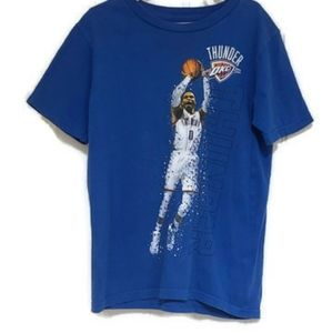 🦖🍭  small Russell Westbrook  Thunder blue tee